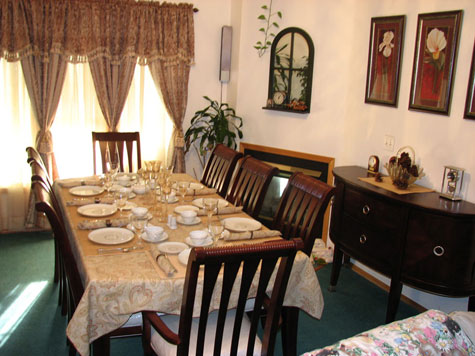 More of the dining room
