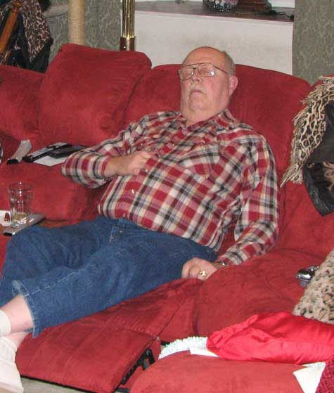 Dad taking a nap